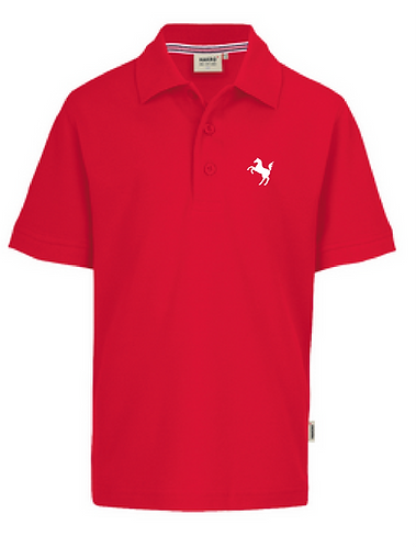 Polo-Shirt Kinder, rot