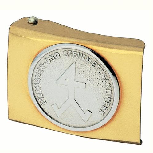 FHB Koppelschloss Gold Steinmetz / Bildhauer Arved