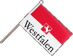 Fahne, rot/weiß