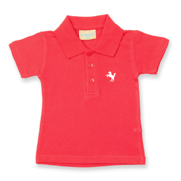 Polo-Shirt Baby, rot