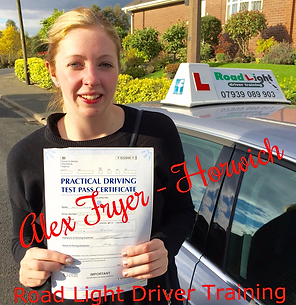 Well done Alex Fryer on completing your driving lessons in Bolton. Another Test Pass