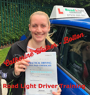 Catherine Tate Driving Lessons in Bolton Pass Certificate Picture