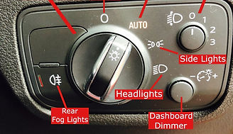 Bolton Driving Lessons Show Me Tell Me Questions Fog Light Switch