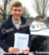 Bolton driving lessons pupil Conor Woods passes the driving test.