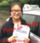 Bolton driving lessons pupil Paivyn Lee passes her test.