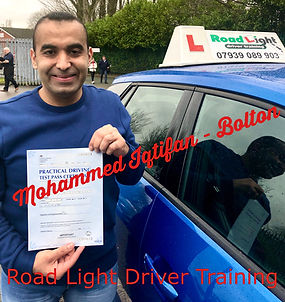 Mohammed Iqtifan Driving Lessons Bolton