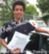 Bolton driving lessons pupil Kofi tobias passes the driving test.