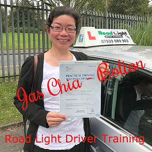 Jas Chia's driving lesson in Bolton end with a 1st time driving test pass.