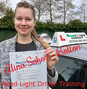 Driving Lessons Bolton Alina Sohor Driving Test Pass.