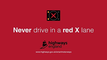 Smart motorways never drive in a red X lane