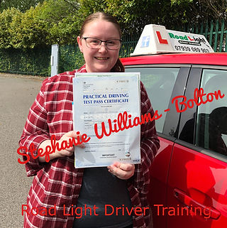Bolton Driving Lessons Steph Williams Driving Test Pass.