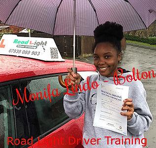 Driving Lessons Bolton Monifa Lindo Driving Test Pass.