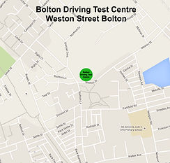 Bolton driving test centre map location. www.boltondrivinglessons.co.uk
