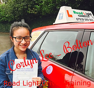 Driving Lessons Bolton Corlyn Lee Driving Test Pass.