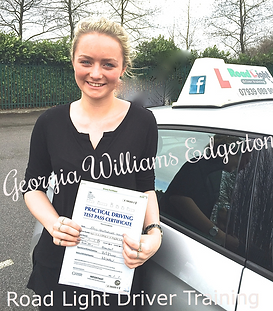 Bolton Driving Lessons Georgia Williams test pass.