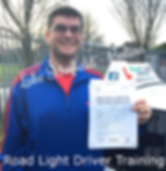 Bolton driving lessons pupil Luke Schofield passes the driving test.