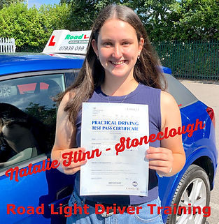 Bolton driving lessons Natalie Flinn Test Pass