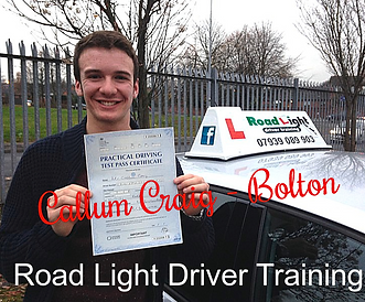 Bolton Driving Lessons Test Pass Callum Craig