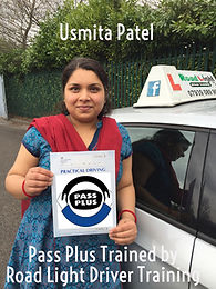 Usmita patel completes her Pass Plus Course with Bolton Driving Lessons