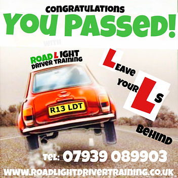 Driving lessons Bolton you passed your driving test with Road Light Driver Training