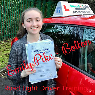 Bolton Driving Lessons Emily Pike Driving Test Pass.