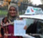 Bolton Drivng LessonsShabnam Begum test Pass