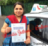 Bolton driving lessons pupil Usmita Jethwa passes the driving test.