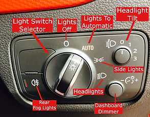 Bolton Driving Lessons Show Me Tell Me Questions Head Light Switch