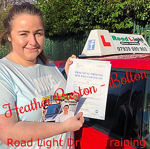 Driving Lessons Bolton Heather Preston Driving Test Pass.