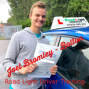 Driving lessons Bolton Joel Bromley Test Pass