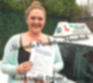 Bolton driving lessons pupil Michaela Prescott passes the driving test.