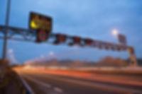 Smart Motorways Overhead Speed limit signs