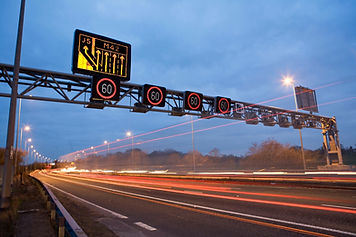 Smart Motorways Overhead Speed limit signs