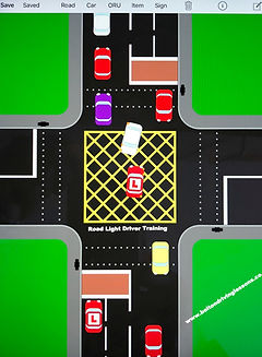 Bolton Driving Lessons iPad road layout.