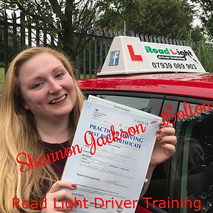 Driving Lessons Bolton Shannon Jackson Driving Test Pass.