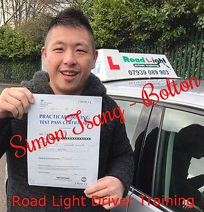 Driving Lessons Bolton Simon Tsang Driving Test Pass.