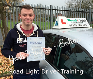Bolton Driving Lessons Josh Hughes Test Pass