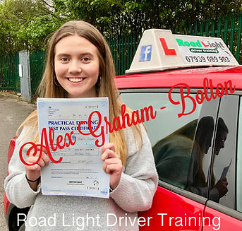 Bolton Driving Lessons Alex Graham Test Pass.