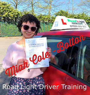 Driving Lessons Bolton Miah Cole Test Pass