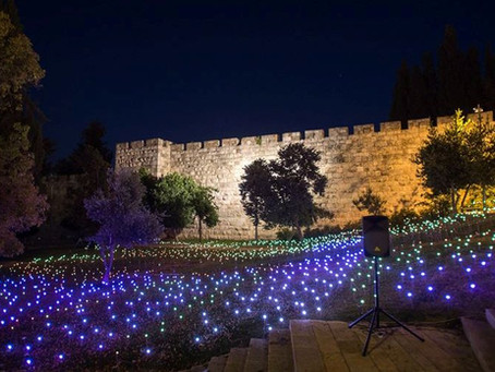Jerusalem Light Festival ... An ancient city all lit up!  Imagine!!!