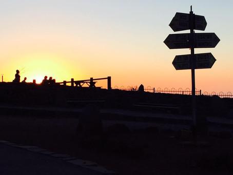 A Magical Sunset on the Israeli-Syrian Border