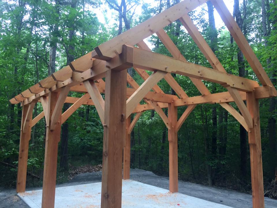 Timber frame kiln shelter