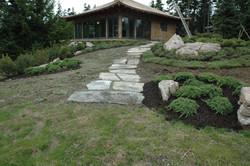 timber frame tea house