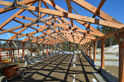 timber frame cow barn