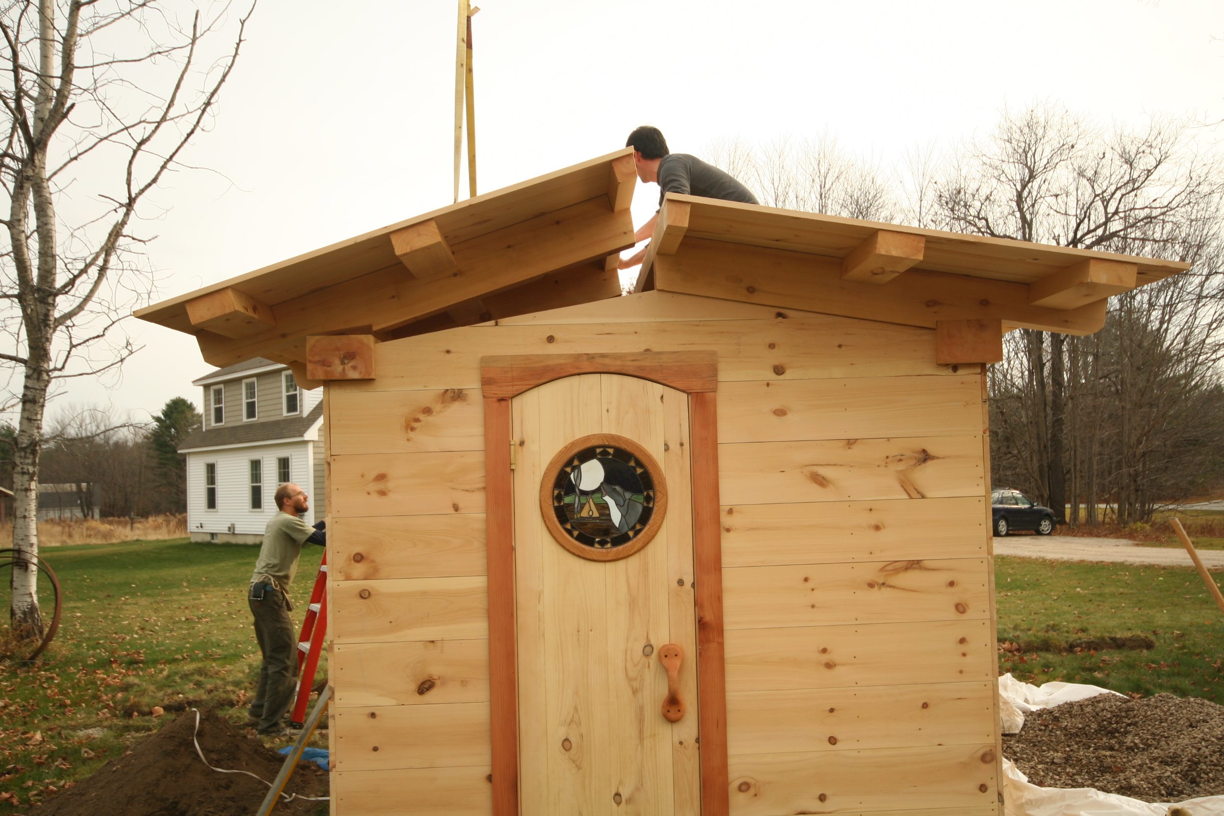 Timber frame sauna