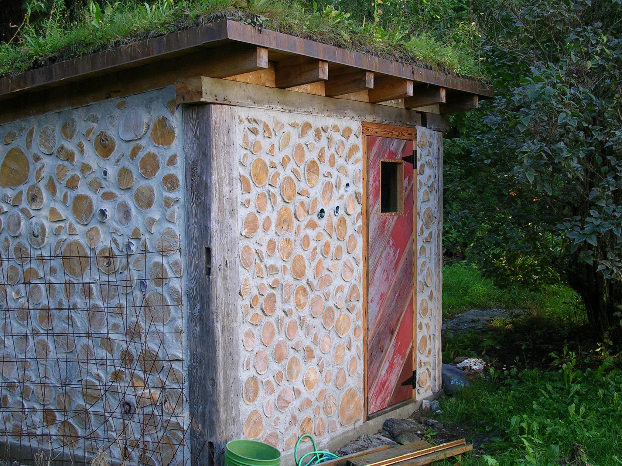 cord wood sauna