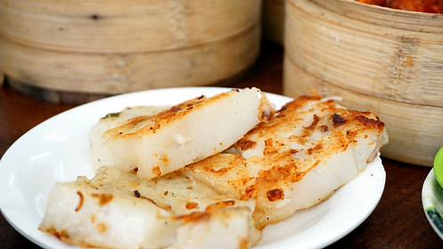 Dim Sum Series - Making Lo Bak Go & Char Siu Puff Pastry