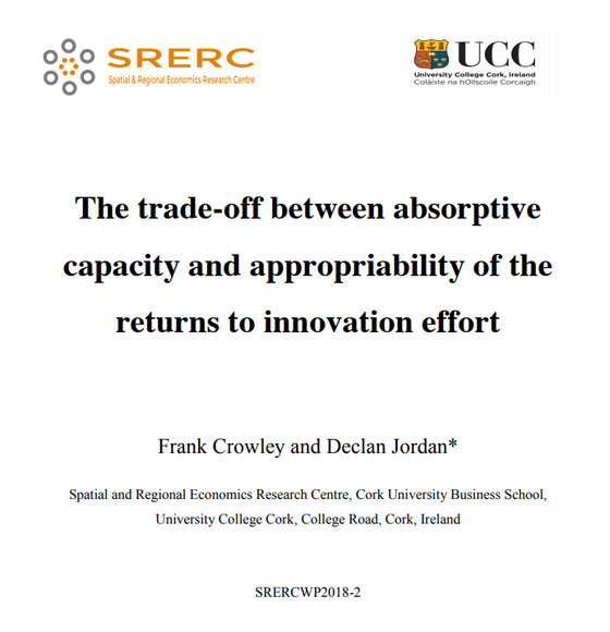 The trade-off between absorptive capacity and appropriability of the returns to innovation effort