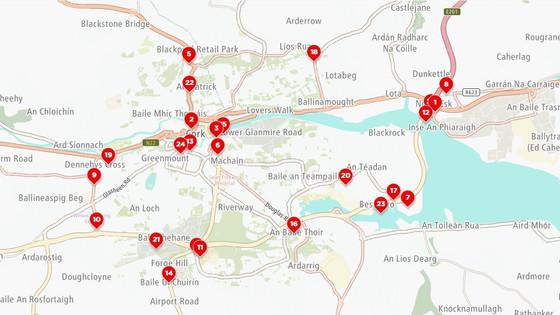 Congestion in Cork & Dublin