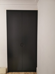 wardrobe with the round handle cut out